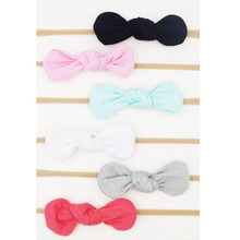 Buy Baby Girls Nylon Headband Bow Head Band Hair Accessories Elastic Rabbit Ears Knot Hairband Infant Kids Toddler 6Pcs/Lot for $7.04 in AliExpress store