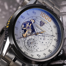 2014 marca acero lleno militar relojes hombres mismo viento automático relogios reloj mecánico de lujo del reloj tourbillon reloj