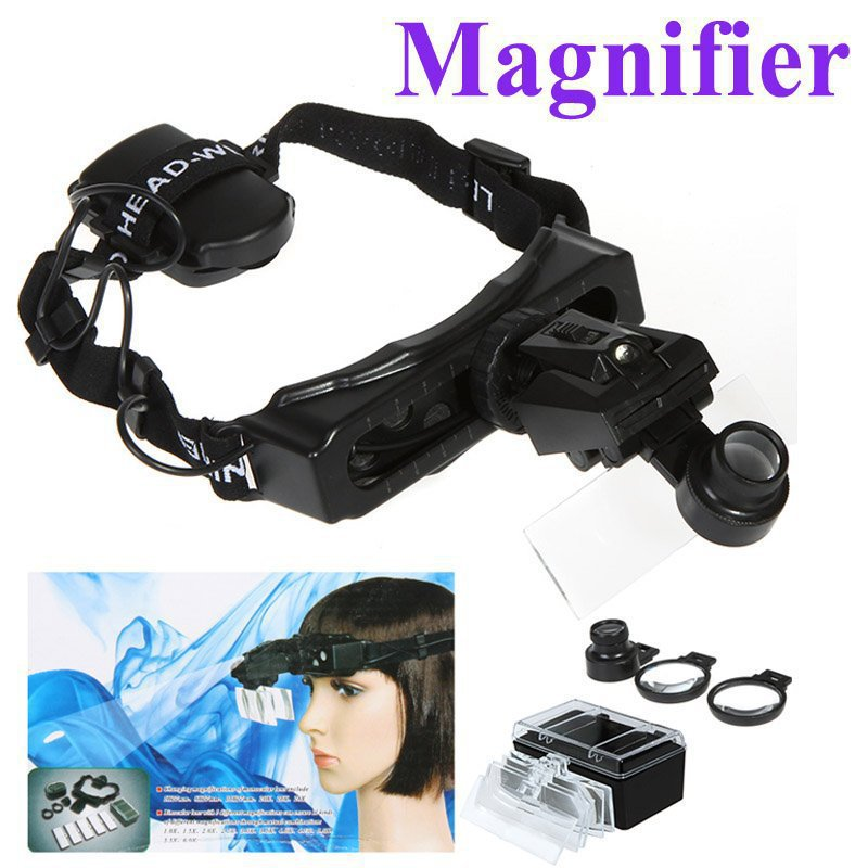 8 Lens Headband Head Strap Magnifier Watch Repair Magnifying Jeweler Loupe with LED Light , Freeshipping Dropshipping<br><br>Aliexpress