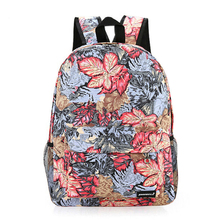 2015New national wind leisure Travel Bags Polyester Floral Daily Backpack cloth art Women's Fashion Backpacks for teenage girls