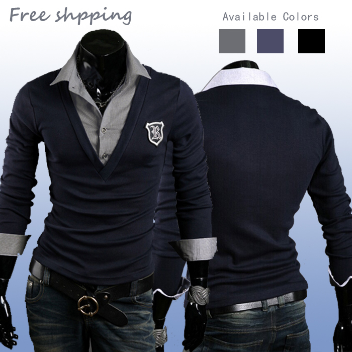 3 Colors Long-sleeved Casual POLO Badge Design Cotton Polo Ralph Men Shirt Thermal Stylish Collar Neck Camisa M-XXL - Previous and Present store