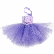 Baby infant tutu dress with a peony flower in front, toddler's summe dress for 0-2years Solid Color  Free shipping by CPAM(China (Mainland))