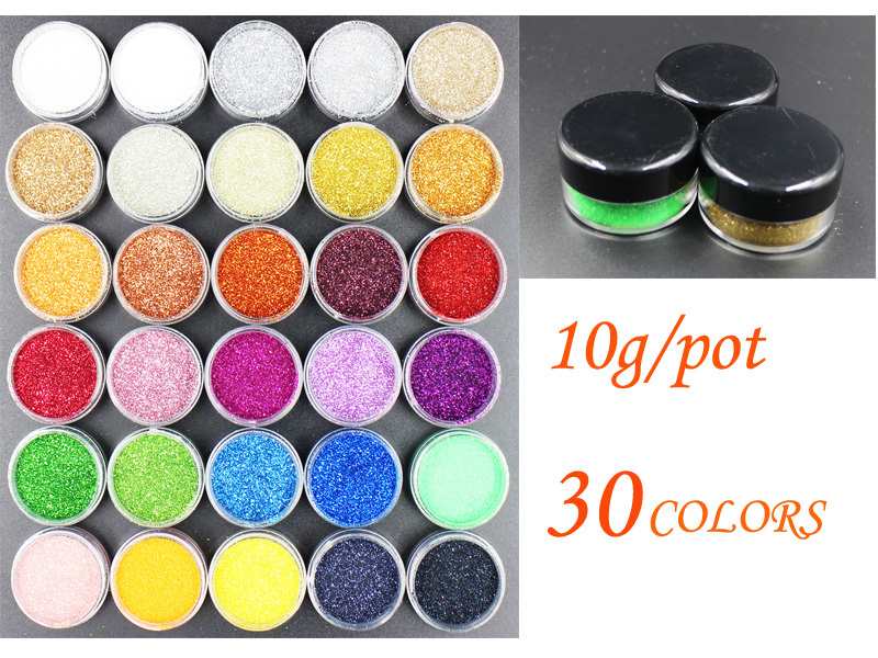 10G Per Pot ! Nails Glitters Acrylic Powder Dust For Nail Art Tips for Nails Accessories !(China (Mainland))