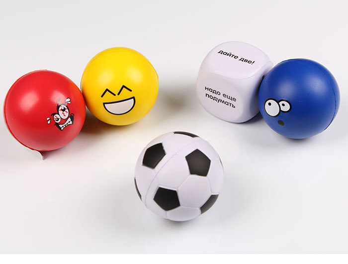 New PU stress ball bubble football colorful baby toy bubble soccer Wrist Bouncy Exercise Ball Squeezing Venting Ball(China (Mainland))