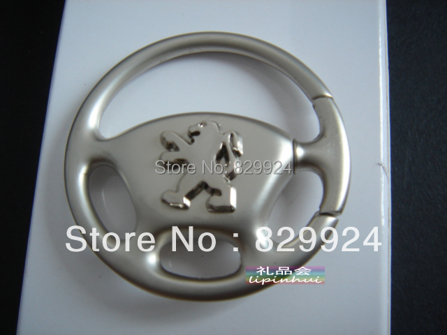 free shipping 2pcs/lot unique peugeot car key chain / auto logo key rings/car accessory(China (Mainland))