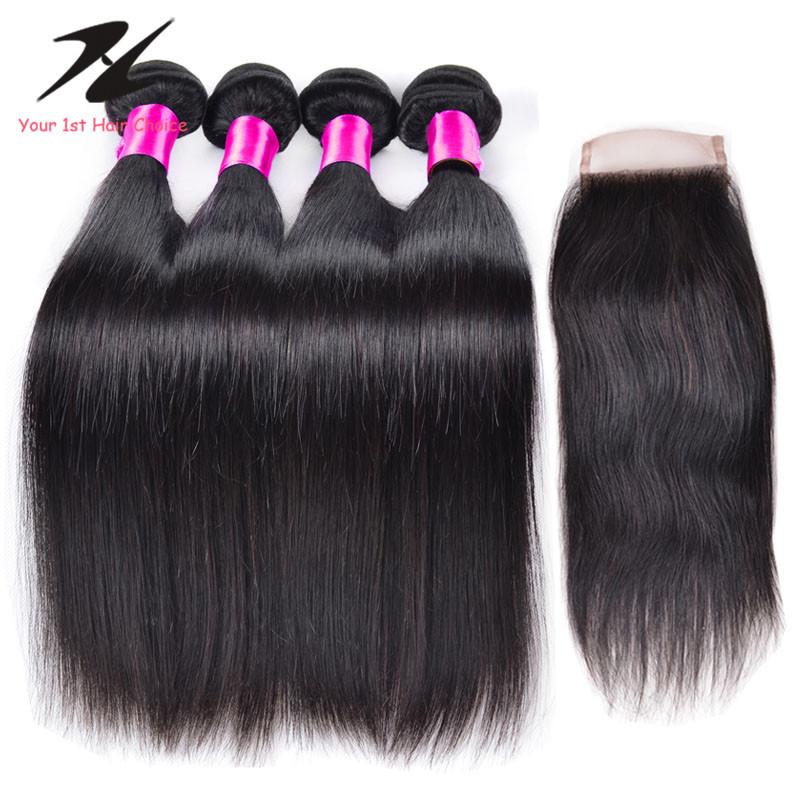 Ms Lula Hair With Closure And Bundles Human Hair Bundles With Closure Indian Virgin Hair With Closure Lace Closure With Bundles<br><br>Aliexpress