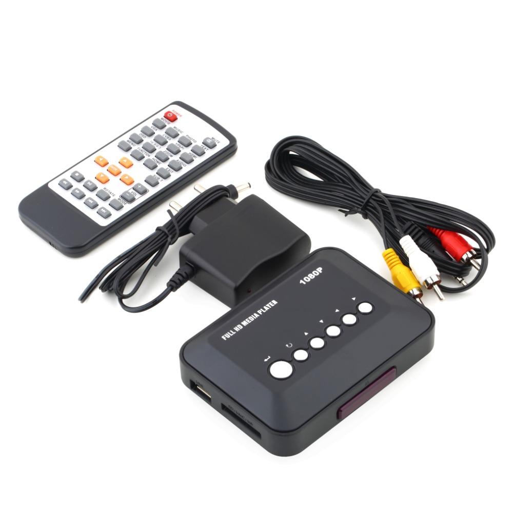 2015 New Full HD 1080p Media Box USB HDMI Multi TV Media Videos Player Box TV Videos MMC RMVB MP3 Player EU Plug(China (Mainland))