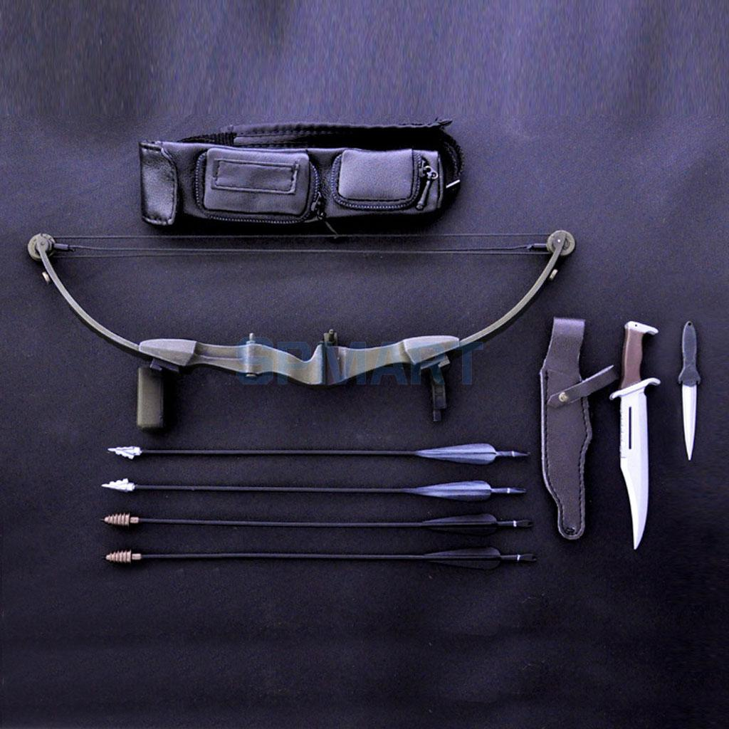 Modern Bow & Arrow Set for 1/6 Scale 12 inch Action Figure Man Hot Toys Dragon BBI(China (Mainland))
