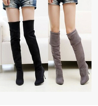 2014 Fashion Thin High- Heeled Women's Slim Women Thigh Boots Over The Knee Boots Women Long Motorcycle boot