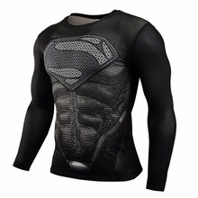 Buy New 2016 Brand Clothing Fitness Compression Shirt Men Superman Bodybuilding Long Sleeve 3D T Shirt Crossfit Super Tops Shirts for $7.33 in AliExpress store