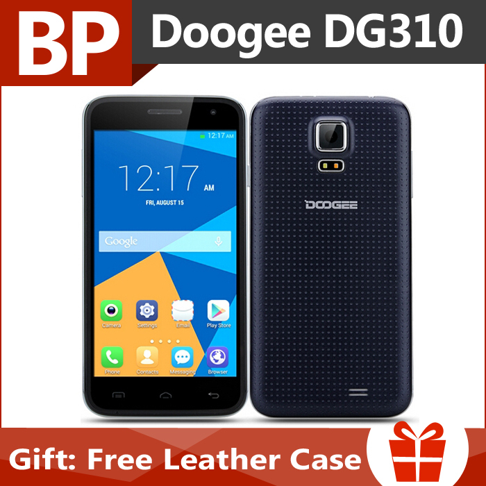 Original Doogee Voyager2 DG310 5 Inch IPS Mtk6582 Quad Core Android 5.0 Mobile Cell Phone 1GB RAM 8GB ROM 5MP BT GPS In Stock(China (Mainland))