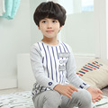 New kids winter warm sleepwear for boys 2 14 year natural cotton clothes for boys suit