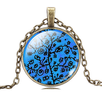 Life Tree Cabochon Pendant Necklace