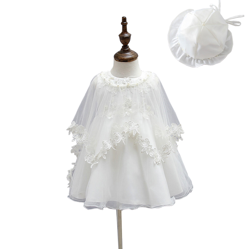2016 Summer Baby Girl Dress Christening Gowns Princess Lace 1 Year Birthday Dress Party Dresses For Girls White Vestido Infantil<br><br>Aliexpress