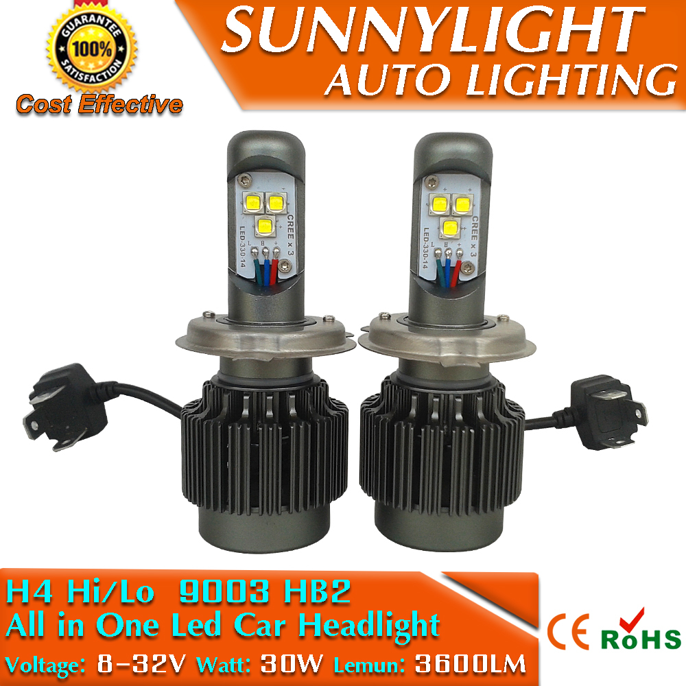Factory Sell 60W Auto LED Headlamps/Auto LED Headlight/Auto Headlamps/Auto Headlight H4 Hi/Lo H7 H8 H11 9005 9006 HB3 HB4 Beam(China (Mainland))