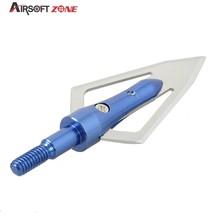12PCS lot Blue Replaceable Arrowhead Broadhead Flechas Carbono Recurve Bows Arrows Archery Arrows for Compound Recurve