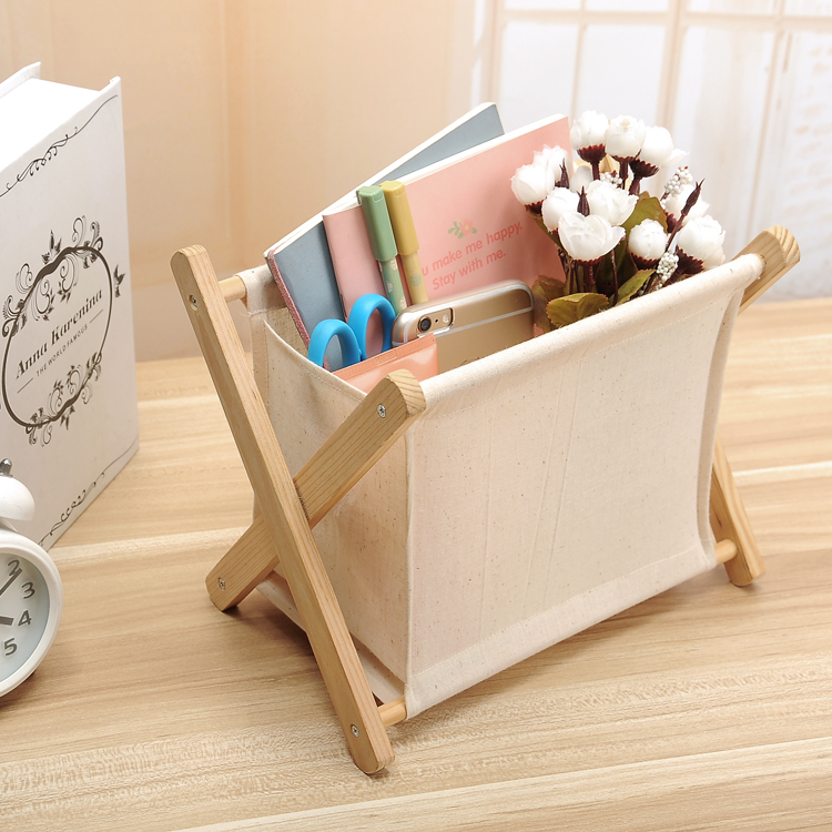 Folding rack magazine sundries linen fabric storage shelf without requiring assemble(China (Mainland))