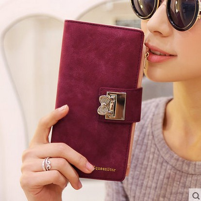 Гаджет  2015 autumn and winter new  fashion women wallets frosted diamond bowknot buckle lady