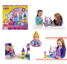 Play DOH Princess enchanted palace puzzle suit mud  3D color modeling clay color dot Plasticine Playdough clay   toy(China (Mainland))