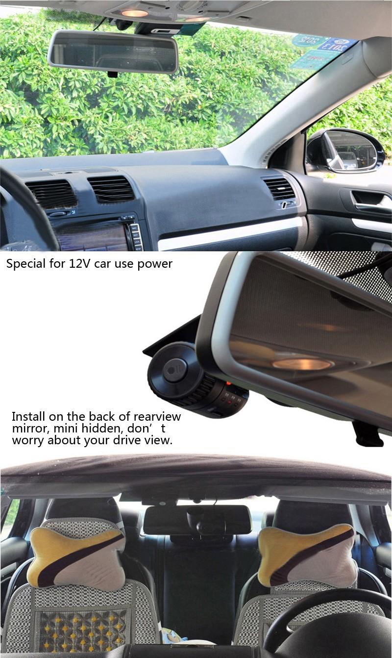 Hidden MINI Dash Cam Vehicle small Camera G-Sensor FULL HD1080P Night Vision G-Sensor universal dash cam mini