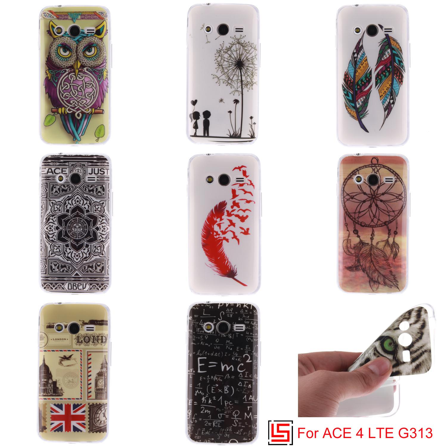 Cheap Ultra Thin TPU Silicone Soft Phone Cell Mobile Case Cover Cove For Samsung Samsun Galaxy Galaxi ACE 4 LTE G 313 G313(China (Mainland))
