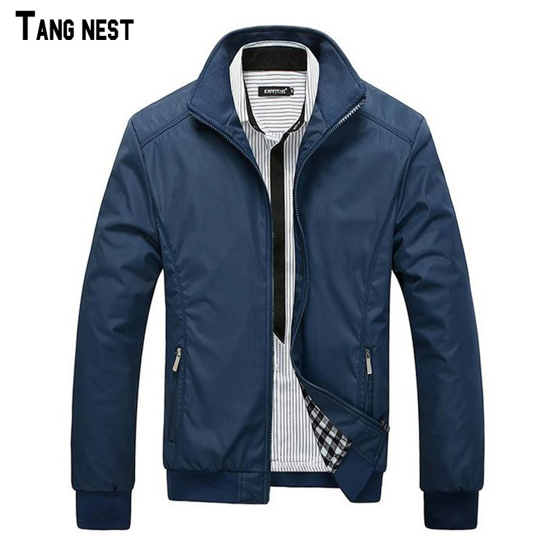 2016 New Arrival Spring Men's Solid Fashion Jacket Male Casual Slim Fit Mandarin Collar Jacket 3 Colors M-XXXL MWJ682(China (Mainland))