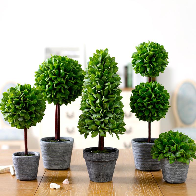 For ariel holly leaf bonsai indoor plants decoration for Artificial plants indoor decoration