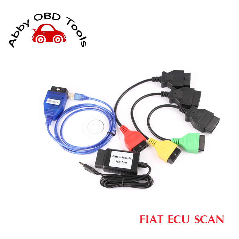 Фотография 2016 New Arrival Fiat Ecu Scan Adaptors Fiat Connect  tool Cable Auto OBD2 Diagnostic Interface 3pieces a set free shipping