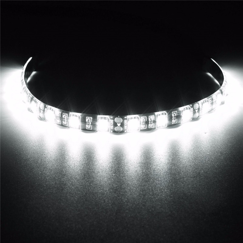 Hot Sale 30cm 4 Pin 5050 SMD 18 LED Light Neon Adhensive Strip Waterproof And Dustproof Computer Case Flexible Strip Lamp DC12V(China (Mainland))