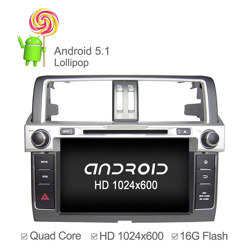"9"" Quad Core Android 5.1 Car DVD For Toyota Land Cruiser New Prado 150 Car GPS Navigation with GPS Radio Bluetooth IPOD(China (Mainland))"