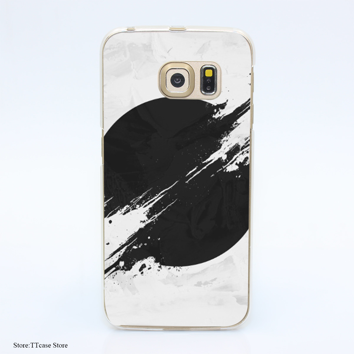 3504G The Sun Is Black Print Hard Transparent Case Cover for Galaxy S3 S4 S5 & Mini S6 S7 & edge