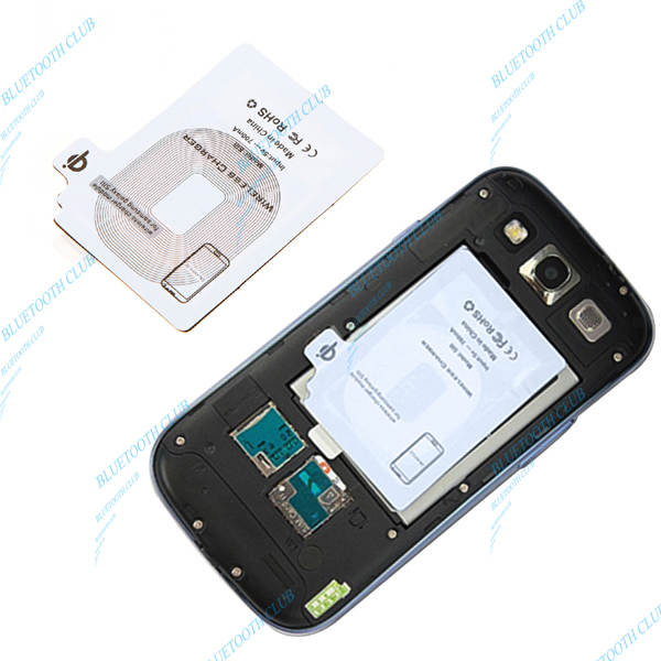 2013 Newest Free Shipping Qi inductive wireless charging receiver adapter for samsung galaxy S3 SIII (Drop Shipping)