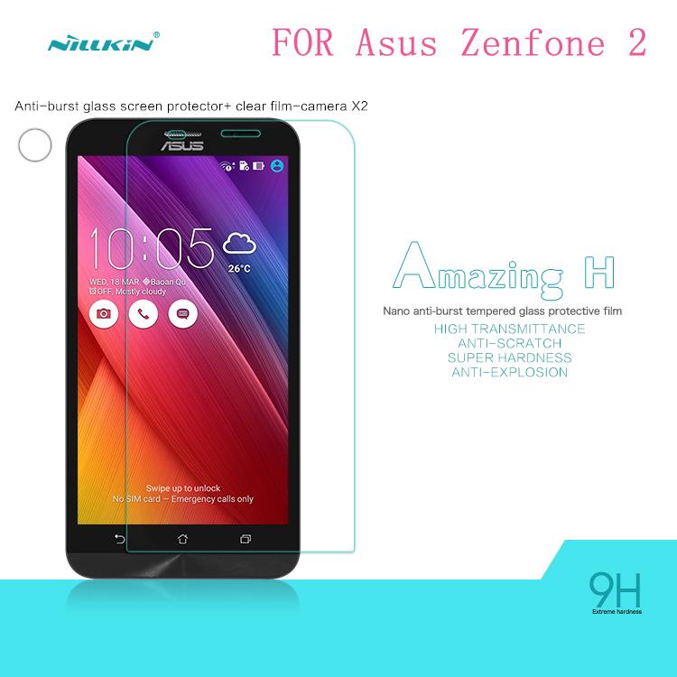 (ZE551ML/ZE550ML) Asus Zenfone 2 Tempered Glass Screen Protector NILLKIN Amazing H Nanometer Anti-Explosion 9h protective film(China (Mainland))