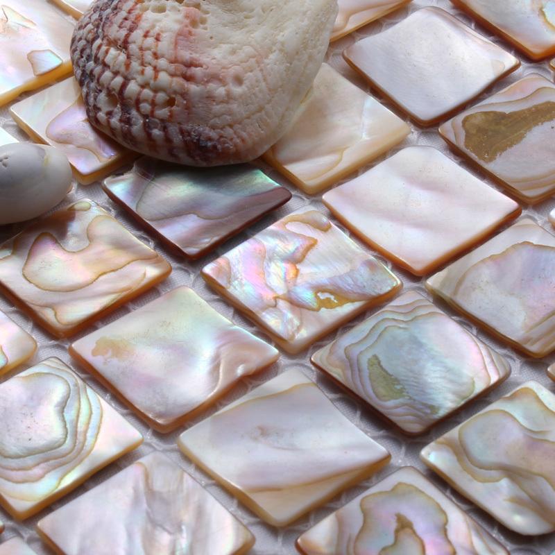 Гаджет  natural shell mosaic tile mother of pearl tiles kitchen backsplash background wall mosaics tile home improvement free shipping None Строительство и Недвижимость