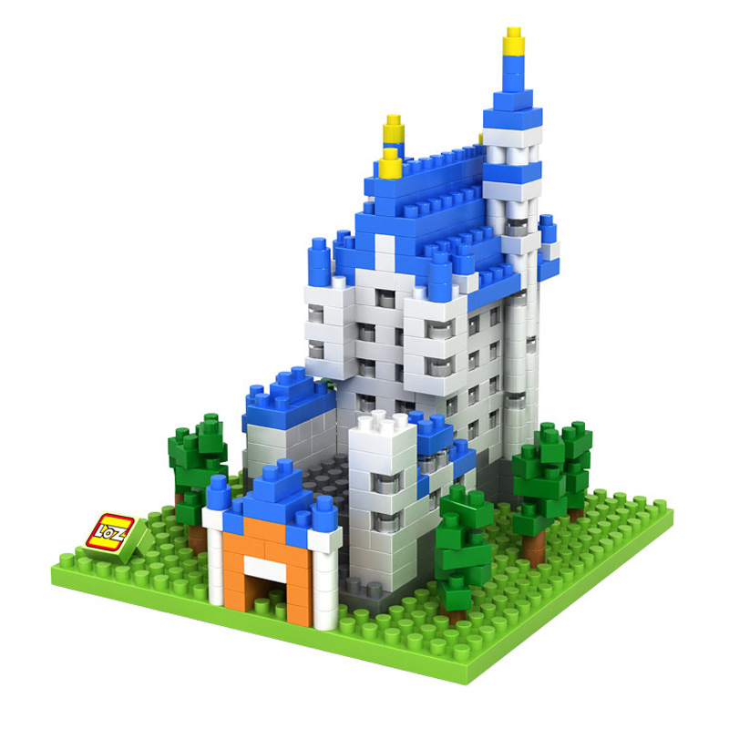 LOZ mini diamond building block world famous architecture New Swan Castle Germany nanoblock Schloss Neuschwanstein model toys(China (Mainland))