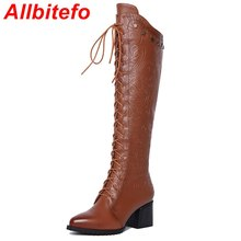 Fashion print pointed toe sexy women knee high boots genuine leather +PU high heel boots 2015 new winter warm snow boots women(China (Mainland))