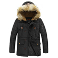 Casual Fur Collar Hooded Doudoune Homme Hiver Thick Warm Down Jacket Men