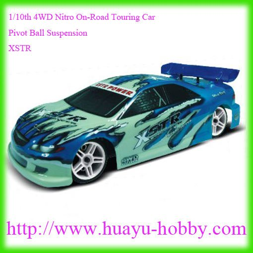 nitro car AM 27Mhz system 94122 RTR :1/10th 4WD Nitro On-Road Touring Car _Pivot Ball Suspension_Two-Speed_XSTR(China (Mainland))