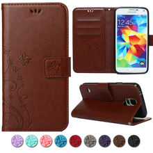 Buy Phone Cases Samsung Galaxy S5 Case Fashion 3D Flower Flip Leather Stand Wallet Cover Samsung S5 9600 G900F I9600 for $3.18 in AliExpress store