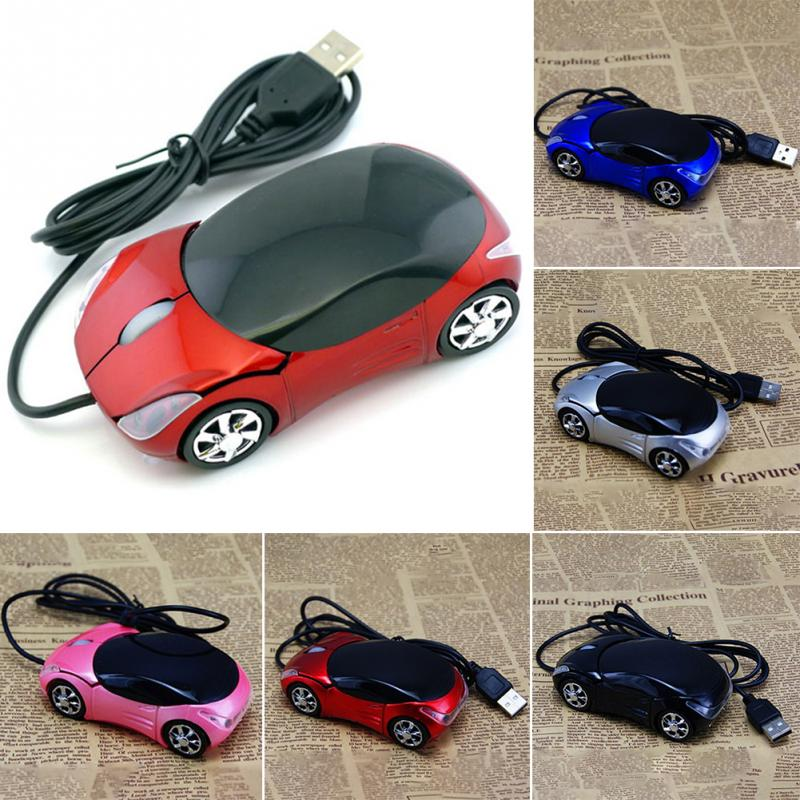 1600DPI Mini Car shape USB optical wired mouse innovative 2 headlights mouse for desktop computer laptop(China (Mainland))