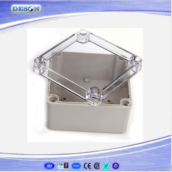 Free Shipping Best Small Size Clear Cover ABS Material IP66 Waterproof plastic electrical junction box 125*125*75mm(China (Mainland))