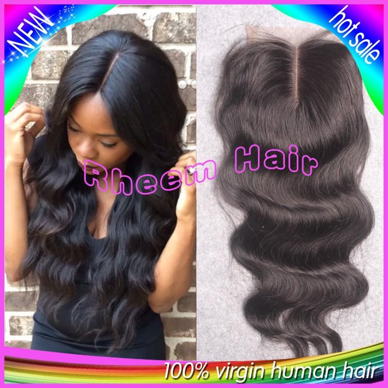 7A Cheap Peruvian Lace Closure Bleached knots Virgin Hair Peruvian Body Wave Closure, Human Hair Closure, Lace Front Closure Top(China (Mainland))