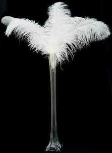"Long 30-35cm 12-14"" fluffy natural ostrich plumes feather feathers table centerpieces wedding decoration black white for sale(China (Mainland))"