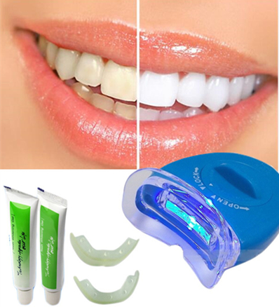 Free Shipping Adult Dental Care White Teeth Whitening Tooth Gel Health Oral Care Kit Dental TreatmentLED Teeth Whitening Machine(China (Mainland))