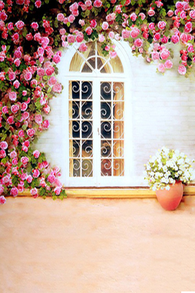 300CM*200CM(about 10ft*6.5ft) backgrounds Fence around the windows with flowers photography backdrops photo LK 1473<br><br>Aliexpress