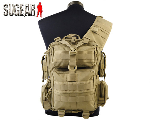 Фотография Outdoor Sports Hiking Camping 1200D Tactical MOD Single Shoulder Bag Tan Airsoft Hunting Molle Durable Nylon Bag Free Shipping