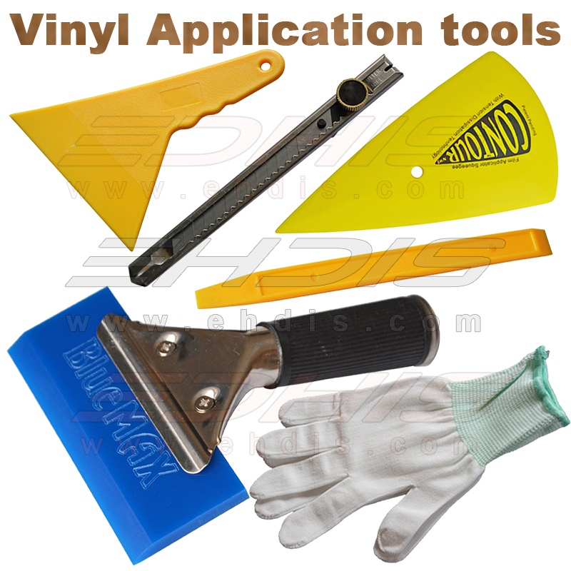 vinyl install tool kit include bluemax rubber squeegee go coner sharp squeegee and other window tint tool AT036(China (Mainland))