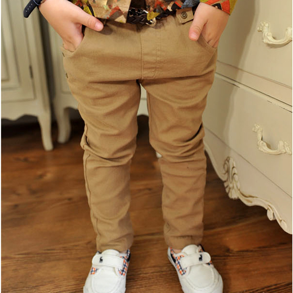 Boys casual pants of 2015 Autumn children's clothing woven cotton casual trousers kids fashion pants free shipping(China (Mainland))