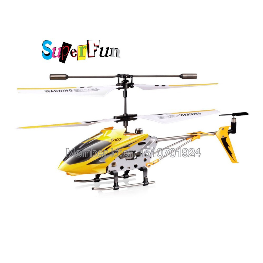 Wholesale Syma S107 yellow 22cm 3CH Mini Remote Control Helicopter RTF. Free Shipping.(China (Mainland))