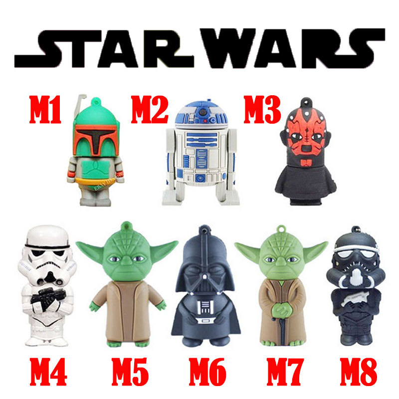 star wars usb flash drive cool pen drive mini usb sticks hot sale pendrive 2G 4G 8G usb key 16G USB disk robot thumb drives(China (Mainland))